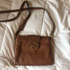 Brown Michael Kors crossbody purse